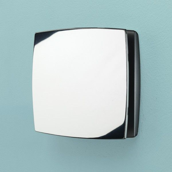 The Breeze Timer Humidity Fan is stylish and discrete with a beautiful Chrome finish. The Fan is sleek, of good size and compatible with 10cm diameter ducting. Complete with a timer and humidity sensor, this fan is ideal for any bathroom.