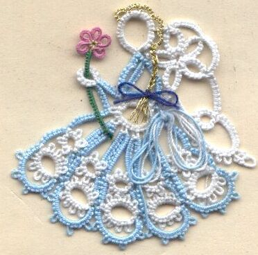 tatting pattern, use skirt and wings? http://www.georgiaseitz.com/2002/riet/rietmartina.html