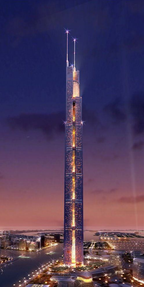 The Al Burj the centerpiece of the Dubai Waterfront...the tallest structure in the world to date