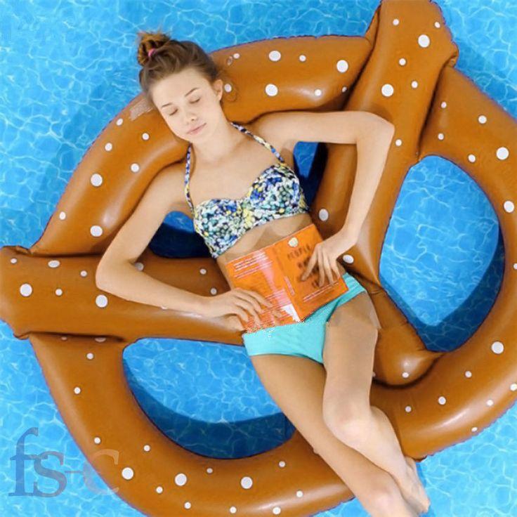 Gigante Inflable Nadar Anillo Forma Rosquilla Balsa Flotador De Piscina,Mar,etc