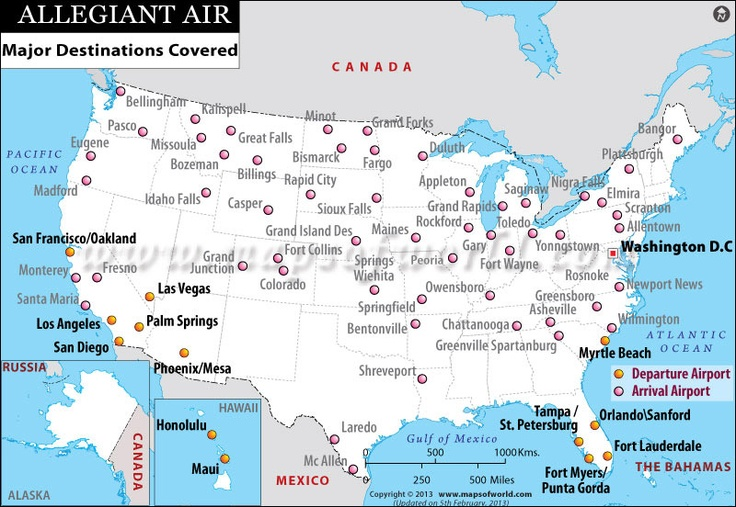 Image Result For Allegiant Airlines Route Map