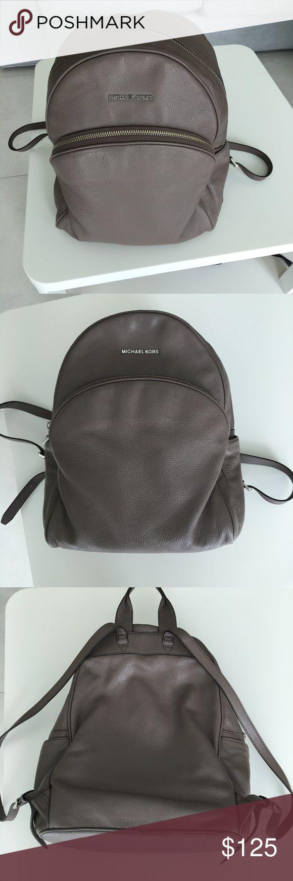 Michael Kors Jetset backpack Jetset backpack, stone color. Inner zip pocket. Silver logo on front. Michael Kors Bags Backpacks