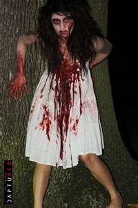 Luv the blood down the front of her dress