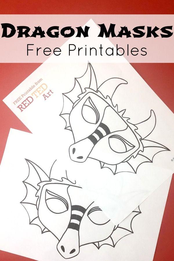 Dragon Mask Coloring Page Dragon Mask Dragon Crafts Chinese