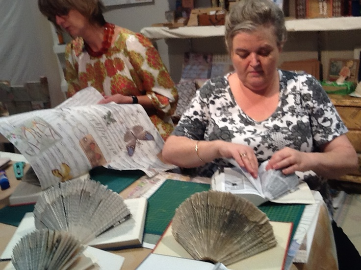 Papercraft workshops with Skye Rogers are always popular at the Stitches & Craft Show.
