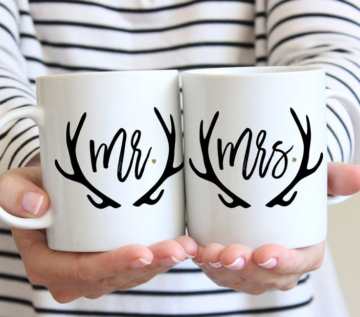 Gift ideas for the Mr & Mrs - love these unique coffee mugs!