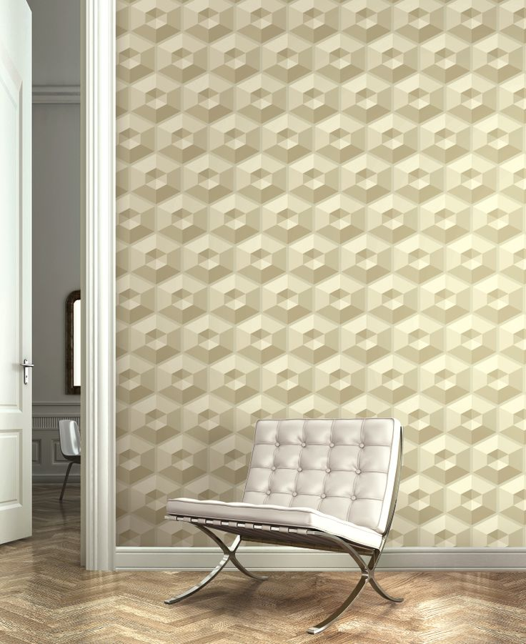 """Add dimension to your walls with """"Hexagons"""" from Wallquest's 3D Collection"""