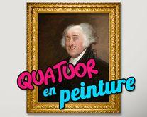Quatuor en peinture - carte virtuelle humoristique personnalisable