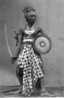 Guard of the Sultan of Jogjakarta, Indonesia (ca 1880),