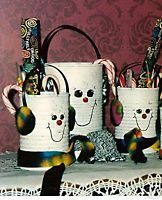 Christmas Snowman Recycled Tin Can Gift Bag Containers | eBay