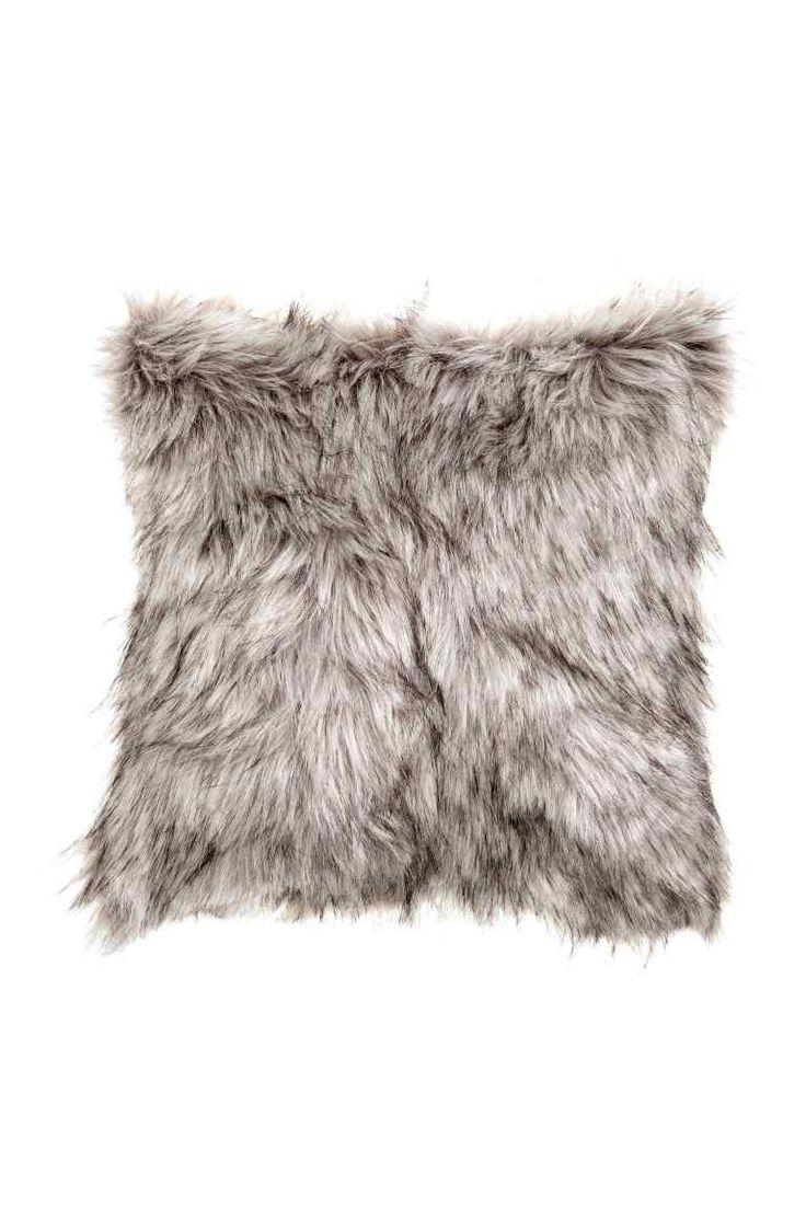 Housse de coussin: Housse de coussin en fausse fourrure avec dos en coton tissé…