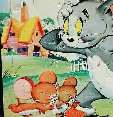 Vintage Tom and Jerry Picture Puzzle Frame-tray Inlay 1957 Whitman 4428:29