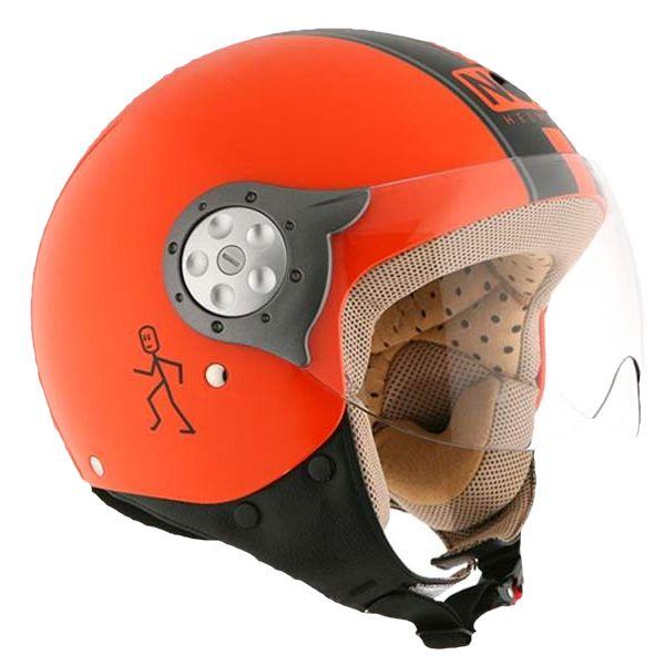 casque NOX N210 orange