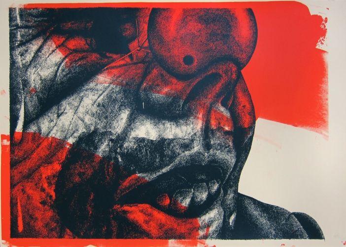 Thomas Pålsson – Untitled (Clown). Serigrafi, 100 x 70 cm. Oplag: 15. Pris: 1.800 kr.