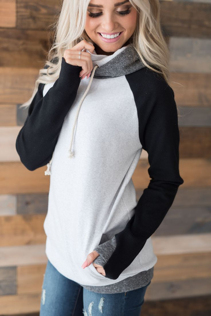 doublehood, mindy mae's market, hoodie, sweatshirt, monochrome, clothes, closet, shopping, fashion, style, fall outfit, winter hoodie, blonde, double hood, double hooded sweatshirt, boutique #CasualChicFashion