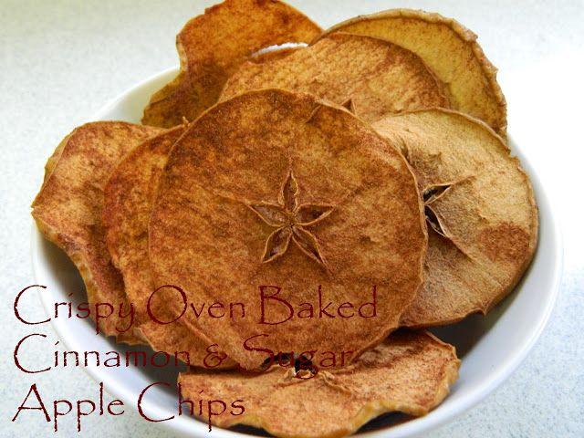 My Favorite Things: Fat Free Crispy Oven Baked Cinnamon & Sugar Apple Chips