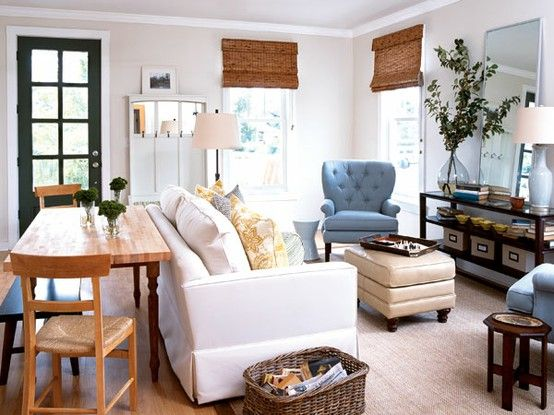 I Really Like The Idea Of Kitchen Table Behind Couch Would Be Good For My Living Room Combo Home In 2018 Pinterest