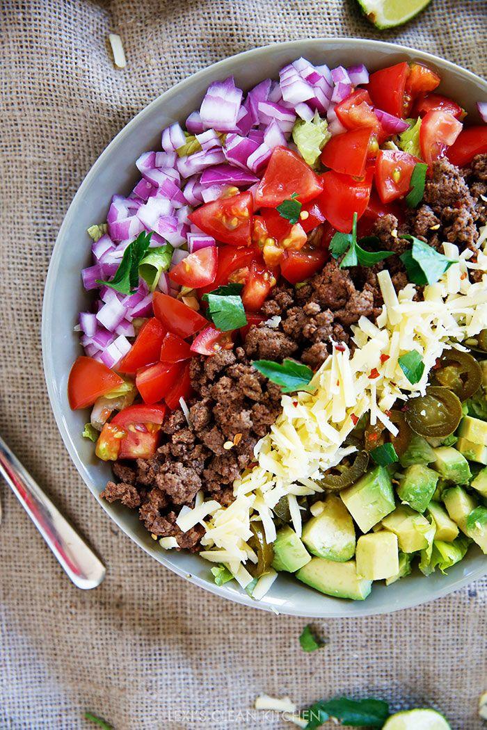 Taco Salad {Whole30, Paleo, Grain-free}   Lexi's Clean Kitchen