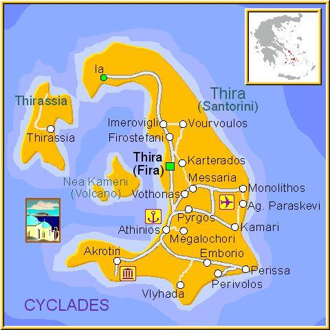 Santorini island map