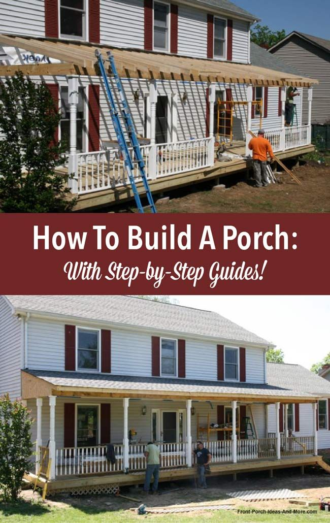 Best 25 front porch addition ideas on pinterest porch for Front porch construction