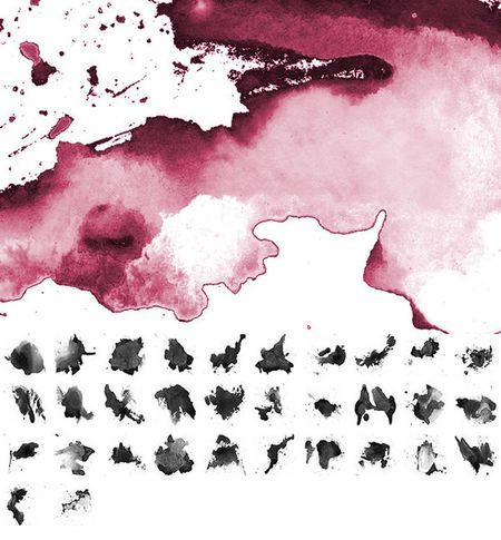 38 Watercolor Photoshop Brush Sets (950 Brushes) - Speckyboy Design Magazine Watercolor Splatters (32 brushes)