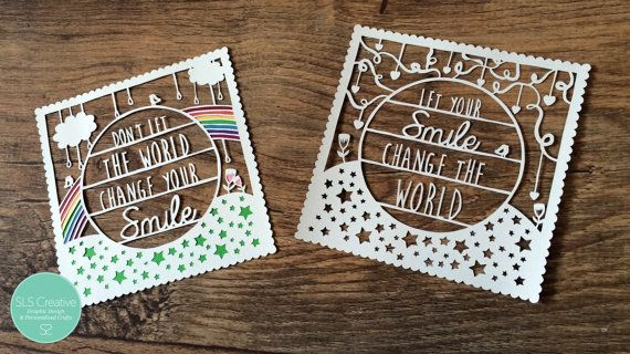TWIN PACK: Don't let the world change your smile by StaceySansom