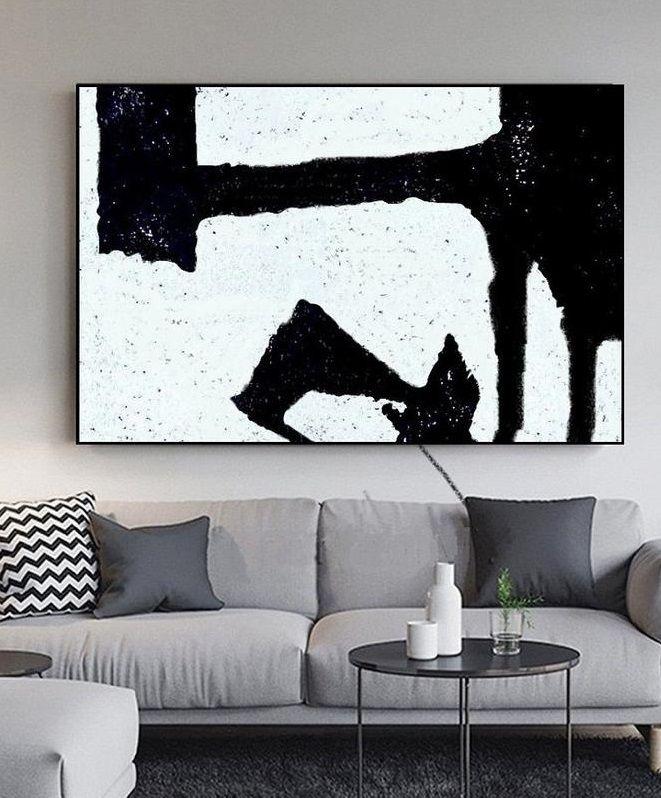 Large Modern Art Minimal Painting Minimalist Art Dinning Etsy Minimalist Art Abstract Dinning Room Wall Art Minimal Painting