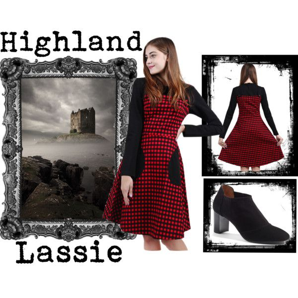 Highland Lassie at GoJoMi by goggijollimilki on Polyvore featuring Aquatalia by Marvin K. and vintage