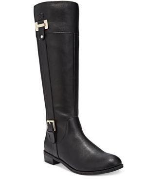 Karen Scott Deliee Riding Boots, Only at Macy's  - Black 8M