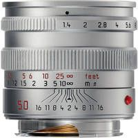 Leica Normal 50mm f/1.4 Summilux M Aspherical Manual Focus Lens (Updated for Digital, 6-Bit) - Silver