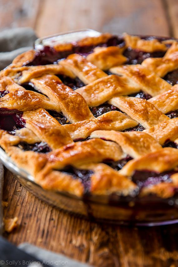Hands down, simply the best blueberry pie I've had! The filling is so simple. Recipe for my buttery, flaky pie crust included.