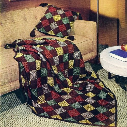 228 best crochet afghans and pillow sets images on pinterest patchwork afghan and pillow free crochet pattern donnascrochetdesigns dt1010fo