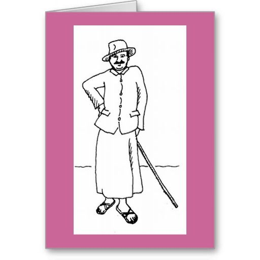 meher baba quotes | drawing of meher baba with hat and cane quote about worry and ...