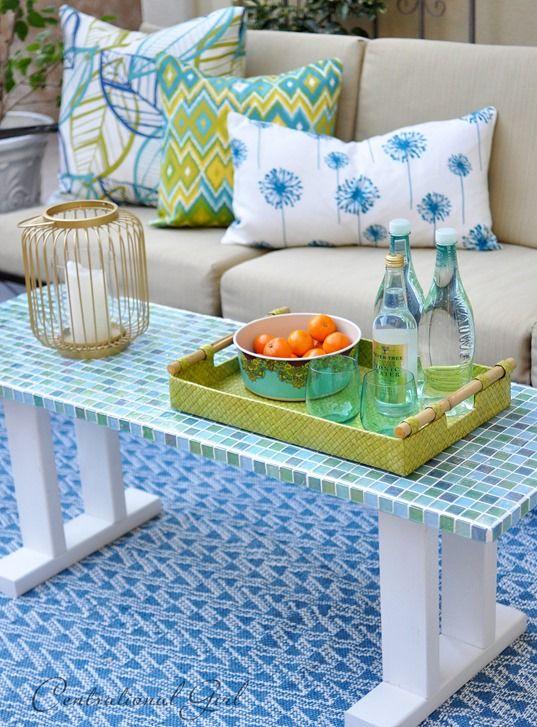DIY Tile Outdoor Table - Centsational Girl