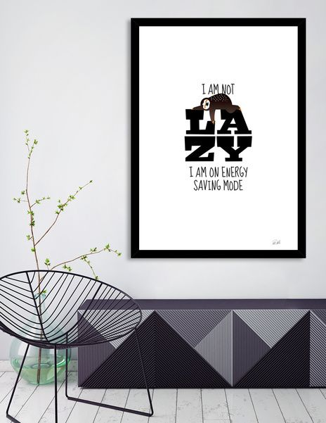 Discover «Sloth - I am not lazy», Numbered Edition Fine Art Print by Pia Kolle - From 18€ - Curioos