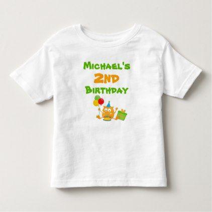Monster Birthday T-shirt Toddler Kid Child - toddler youngster infant child kid gift idea design diy