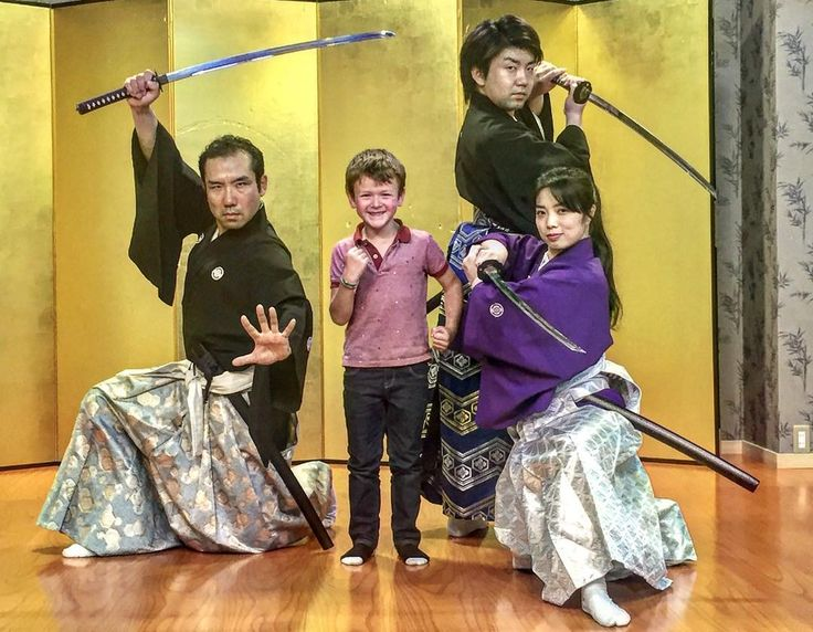 The best moment in Noah's life apparently being surrounded by real Samurai. You can see he's truly in awe.  #passportready #travelblogger #wanderlust #ilovetravel #writetotravel #aroundtheworld #etihad #travel #travelwithkids #globaldegree #passportrequest #rickshawtravel #kids #traveller #traveltheworld #planetearth #ontour @rickshaw_travel #japan #samurai #kyoto #happykid
