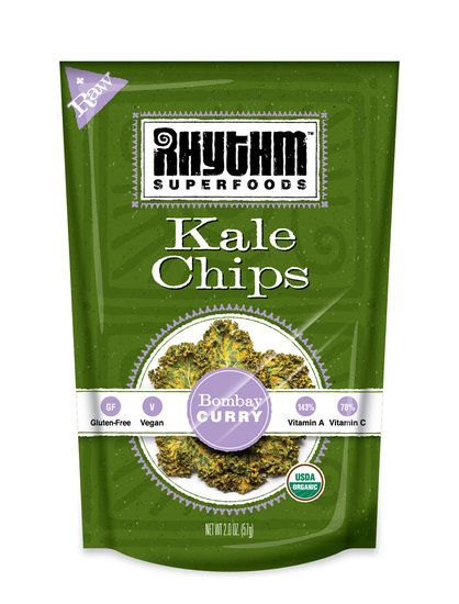 Rhythm Superfoods Curry Kale Chips: I had no idea you could buy Kale Chips ready made!
