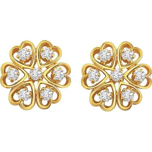 Demure Diamond Earrings