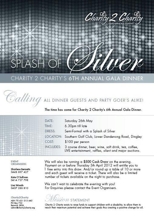 Last year Charity2Charity gala dinner