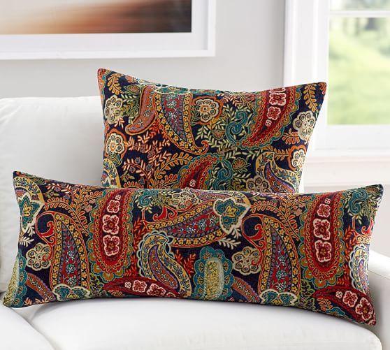 Sofa Covers Gwenn Printed Velvet Pillow Cover Square