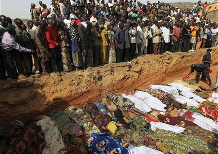 """Devout Muslim group slaughters over 2,596 Nigerians in three months - WHERE IS THE GLOBAL OUTRAGE AT THIS?   Boko Haram, which means 'No to western education,' has shunned several moves by the government to broker peace with it. The group had demanded for, among other things, the enforcement of SHARIA LAW in the Northern part of the country and the Islamisation of Northern Nigeria....AND COMING HERE IF WE ALLOW THEIR DEMAND OF SHARIA LAW""""!"""