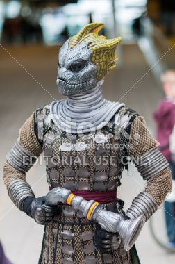 Doctor Who Celebration 2013 - Silurian Portrait Royalty Free Stock Photo