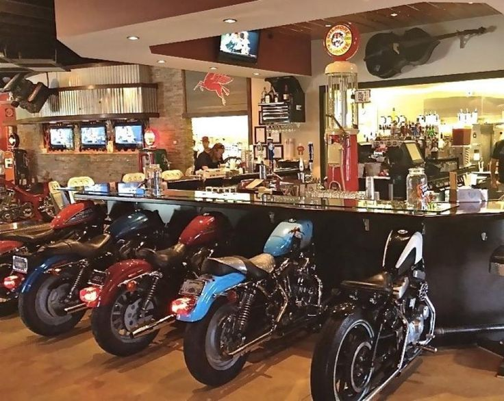 25 best ideas about biker bar on pinterest davidson for Motorcycle decorations home