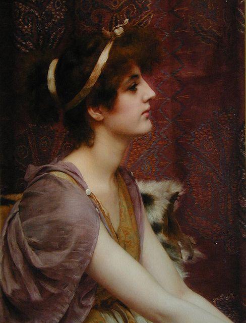 John William Godward    Classical beauty, detail