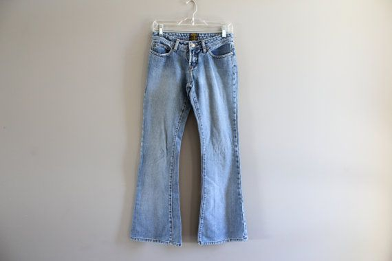 Vintage LEE Waist 26 Lee Jeans Low Waist Zip Fly Boot by Amilialia