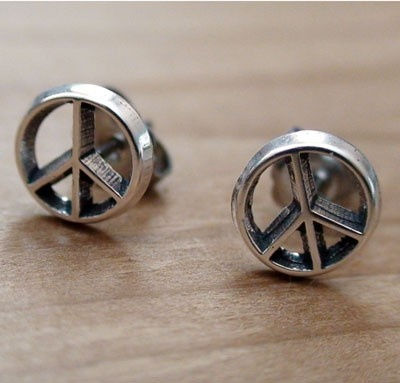 FashionJunkie4Life - Peace Sign Earrings - Sterling Silver Post Earrings, $14.00 (http://www.fashionjunkie4life.com/peacesignearrings/) 10% discount for Pinterest users. Coupon code PIN10.