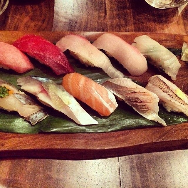 Maruya in San Francisco, CA -- Every single nigiri is double the size of nigiri from other restaurants!! Appetizers are OK. Recommend the nigiri omakase (instead of the regular omakase).