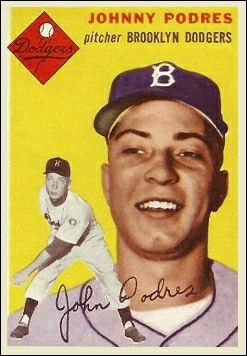 Johnny Podres - Miner's son from Witherbee, New York and first World Series MVP, 1955