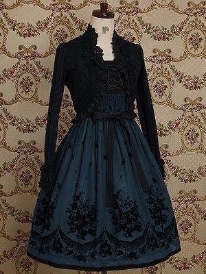 fashion elegant clothes clothing pretty beautiful goth gothic lolita dress